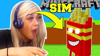 Minecraft: CLOUDY WITH A CHANCE OF MEATBALLS SIMULATOR! (RAINING FOOD!) Modded Mini-Game