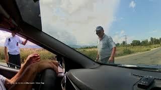 ГАИ Киргизия. Самый тупой развод на обгон.