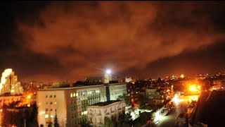 US, France and Britain launch missile strikes on Syrian weapons facilities - Video Youtube