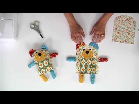 From the Sizzix Quilting Workshop: How to Make A Large Maggie & Quincy Bear