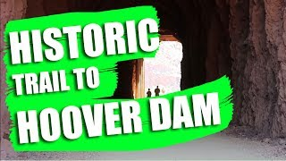 Hiking The HISTORIC railroad trail to the HOOVER DAM///Full-Time Family Travel Vlog