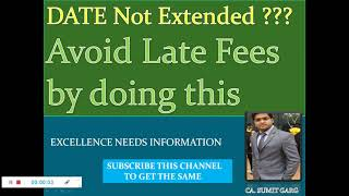 Avoid Late Fees of Rs. 10000/- for Late filing of ITR by simply doing this