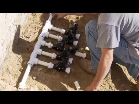 Sprinkler System Como Instalar un Sistema de Riego;  PVC-Lock