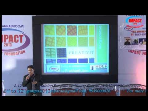 Entrepreneur|Prashant Jain |TELUGU IMPACT Hyd 2013