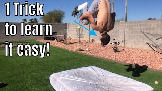 HOW TO DO A BACKFLIP ON BED OR MATTRESS FOR BEGINNERS