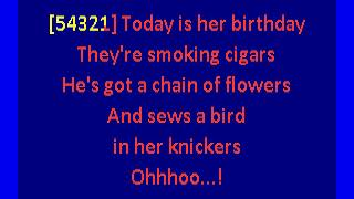 sugarcubes  - birthday (karaoke)