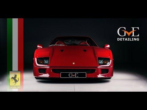 GVE Detailing: Correction Detail of Ex-Eric Clapton Ferrari F40