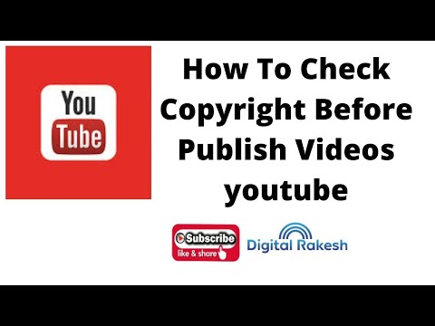How To Check A Copyright Before Publish Videos in Youtube