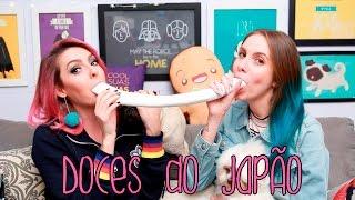 Comendo Doces Estranhos Do Japão 🍭🇯🇵 Com Karen Bachini | Gabbie Fadel