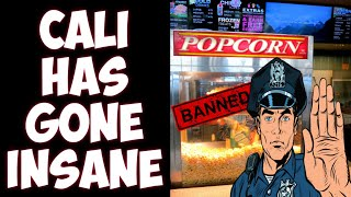 California bans popcorn?! Movie theaters knocking on deaths door?!