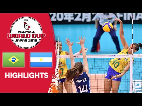 BRAZIL vs. ARGENTINA - Highlights | Women's Volleyball World Cup 2019