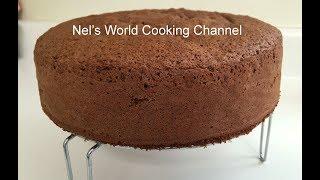 How To Make Soft Chocolate Sponge Cake -  Easy Sponge Cake Recipe  - Chocolate Sponge Cake
