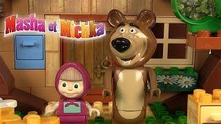 Masha et Michka Jeu de construction Маша и Медведь Building Blocks Œufs Surprise