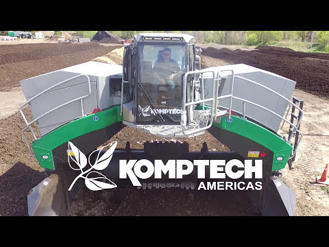 Komptech Topturn X63 Compost Windrow Turner Overview