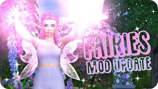 FLYING FAIRIES & MAGICAL POWERS IN THE SIMS?!   Sims 4 Fairies Mod Review ✨