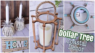 DOLLAR TREE DIY Coastal Home Decor Crafts | Nautical Beach Decor