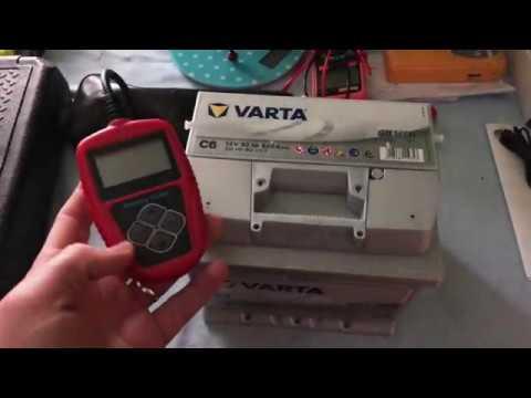 PKW Batterietest im ausgebautem Zustand Startbatterietest durchführen mit Batterietester Anleitung