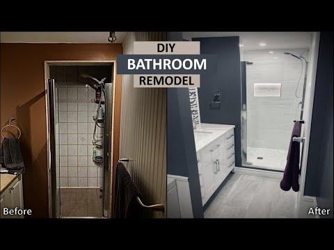 DIY Bathroom Remodel | First Time Renovation for $4k