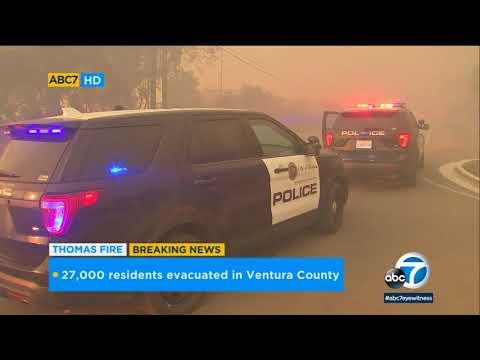 Thomas Fire: Ventura police go door-to-door to evacuate residents | ABC7