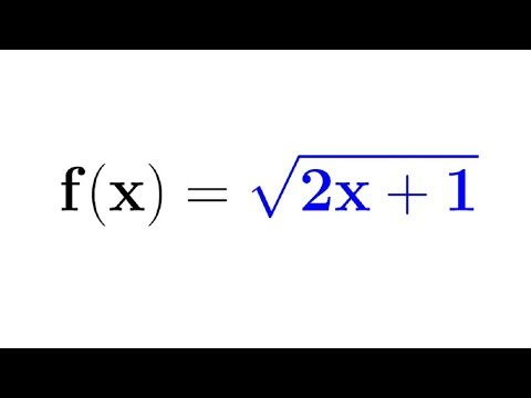 I work through an example problem of how to take the second derivative of a function involving a square root.