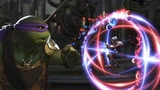 Injustice 2 : (TMNT) Donatello Vs Atom - All Intro/Outros, Clash Dialogues, Super Moves