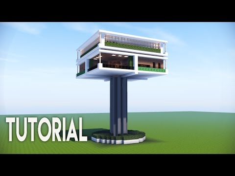 Minecraft: Easy Modern House   Modern Tree House   Best Modern Tutorial    Roof Garden Survival Base!