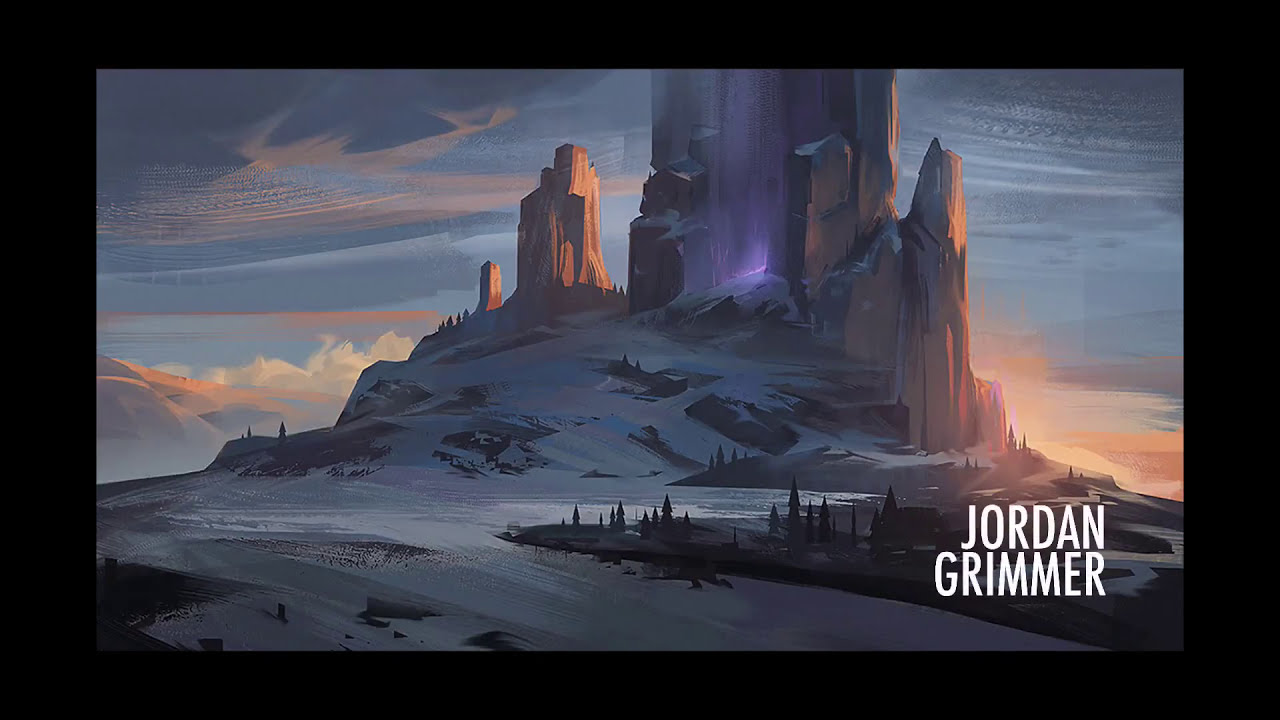 digital painting of a mountain by jordan grimmer