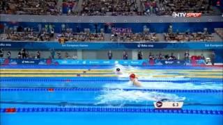 50 meter Brust semifinal  Beste samanci 2015 Baku European Games