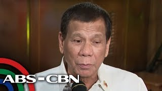 President Duterte talks to reporters in Malacañang | ABS-CBN News
