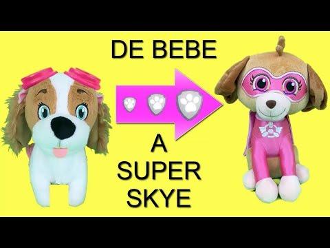 Juguetes paw patrol español:bebes Skye y Chase superheroes!Nuevo video patrulla canina peluche 2018