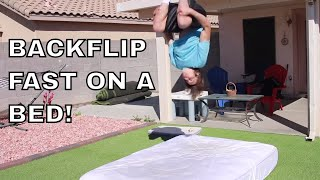 How To Do A Backflip On A Bed Step By Step For Beginners!