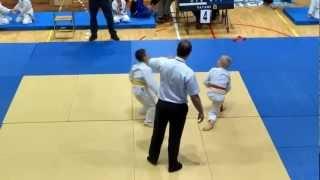 Impressive kids judo fight - U9 finals in Poland