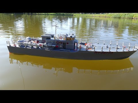 EHT-2877 Destroyer 1/115 RC boat - Restored after bad shipping handle