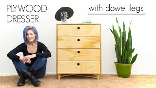 Plywood Dresser With Dowel Legs | How To Make