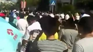 preview picture of video '江蘇省啟東市民反排污散步游行'