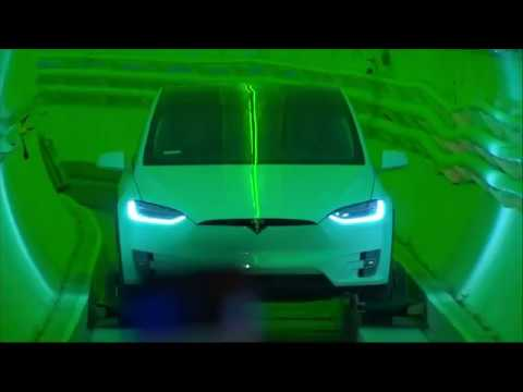 Elon Musk unveiled his underground transportation tunnel plans for Los Angeles on Tuesday. He says miles of tunnels could be dug beneath Los Angeles, so that autonomous, electric vehicles could travel around the city and ease traffic. (Dec. 19)
