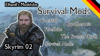 Skyrim Modreview Survival Mods - Frostfall Survival Mode Frostbite The Frozen North Hypothermia