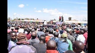 Raila Odinga pulls crowds of supporters in Meru as they chant anti-Uhuru slogans