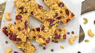 EASY No-Bake Granola Bars | Make-Ahead Meal Prep Recipes