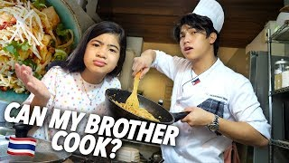 CAN MY BROTHER COOK? | Ranz and Niana