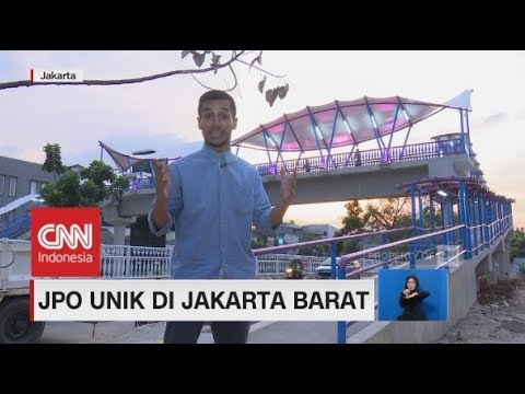 Melihat JPO Unik di Jakarta Barat