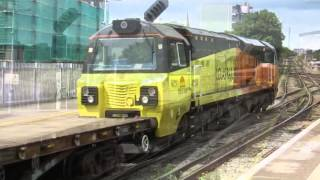preview picture of video 'Colas Railfreight Class 70 802 passing through Lewisham'