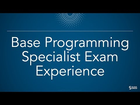 SAS Demo | Base Programming Specialist Exam Experience