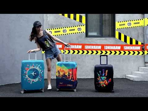 "Чехол на чемодан CoverCase Airplane размер большой L 26-28"" (CC-18969) Video #1"