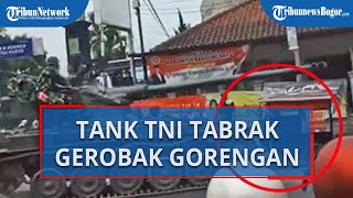 Buntut Insiden Tank Milik TNI yang Menabrak Gerobak dan Motor Warga, TNI Siap Ganti Rugi