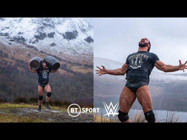 Drew McIntyre returns home to prepare for Brock Lesnar | BT Sport x WWE WrestleMania promo!