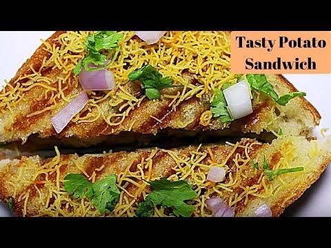 Potato Sandwich | Aloo Sandwich | Sandwich Recipe | Quick And Easy Snack Recipe