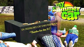 FUNERAL FOR DRUNKMAN - My Summer Car Gameplay Highlights Ep 109