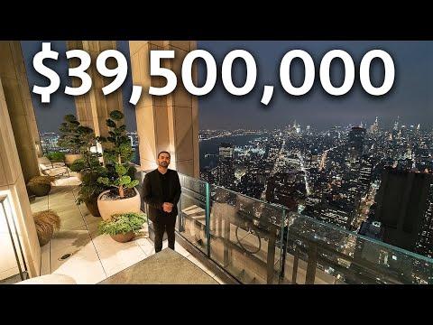 PENTHOUSE van $ 39.500.000 in New York City met een prachtig uitzicht op de stad!