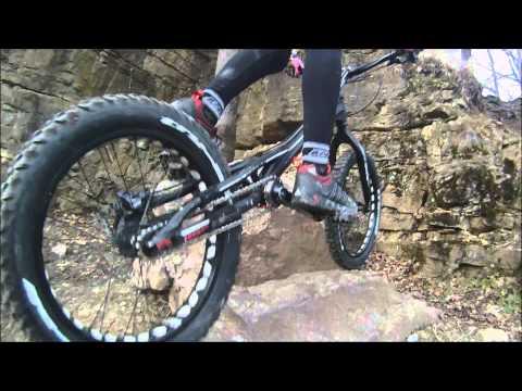 Bike Trial Training February  2014 - Nina Reichenbach